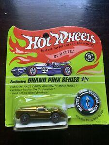 Hot Wheels Redline  - Ford J Car - Blister Pack - Card - Grand Prix Card - Gold