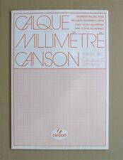 50 Blatt transparentes Millimeterpapier A3 Millimeterblock Canson 65g/qm Calque