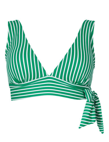 Ex Marks and Spencer Green Non-Wired Plunge Bikini Top P83.9