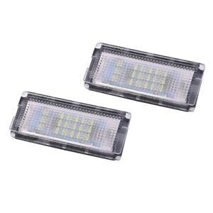2-Luz-de-placa-de-18-LED-3528SMD-de-blanco-de-matricula-para-BMW-E46-Z1I7