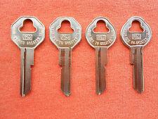 Chevy Gm 4 Oem Key Blanks 1961 1962 1963 1964 1965 1966 Original Gm Logo Fits 1955 Pontiac