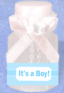 It's a Boy Polka Dot 12pack Mini Bubble Favors New