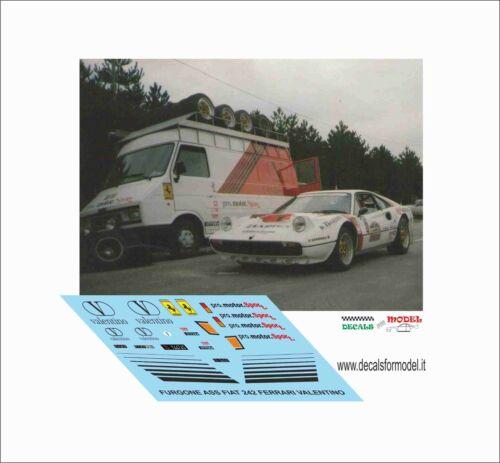 DECALS 1//43 VAN SERVICE ASSISTENZA FERRARI 308 PROMOTORSPORT FIAT 242
