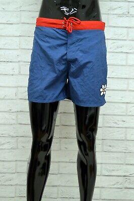 Ben Informato Costume Guru Uomo Taglia Size M Mare Piscina Bagno Shorts Pantaloncino Blu Rosso Long Performance Life