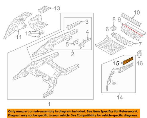 BMW OEM 16-18 740i Floor-Rear Body-Outer Rail Side Extension Left 41007413063