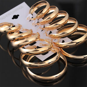 6-Pairs-Set-Earrings-Big-Hoop-Women-Gold-Silver-Round-Circle-Jewelry-Dangle-Gift