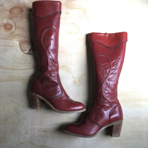 Miss Capezio 70s Tall Heeled Boots Vintage 6 m