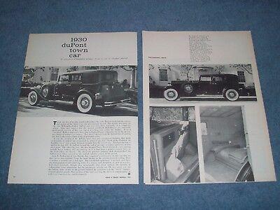 1930 Dupont Town Auto Vintage Info Artikel A Concours D'elegance Winner... Zoll GläNzende OberfläChe