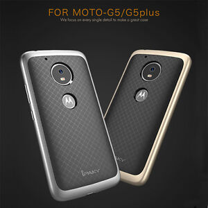 best sneakers 12ba6 1c5f8 Details about iPkay Hybrid Hard Bumper TPU Rubber Back Case Cover For  Motorola Moto G5 G5Plus