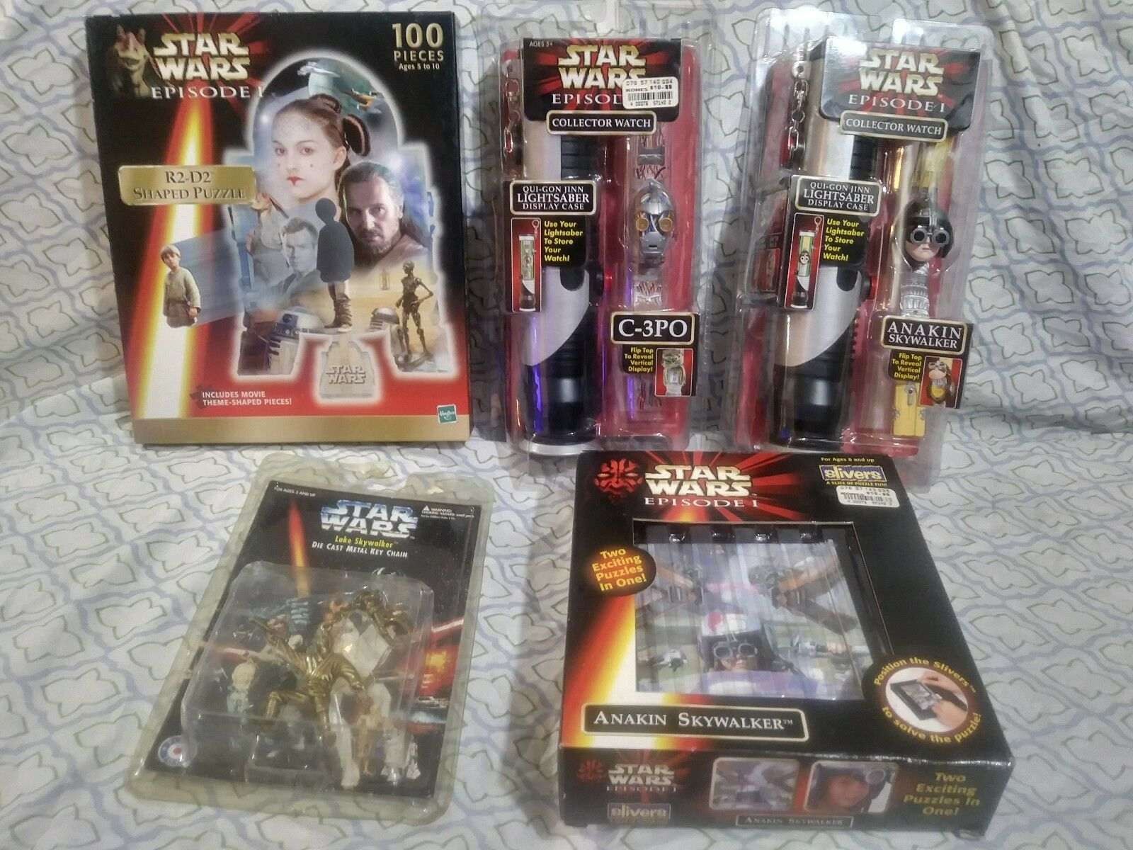 LOT STAR WARS EPISODE 1 & More COLLECTION WATCHES, Puzzles etc. NEW IN ORIGINAL