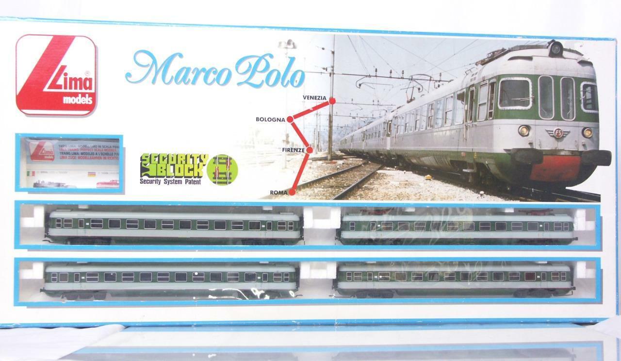 VERY RARE LIMA 106512 HO  ITALIAN FS classe Ale 601 MARCO POLO EMU 4 auto SET