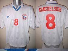 KANCHELSKIS Russia Maglia Calcio in ADIDAS ADULTI XL 1996 Man Utd Top