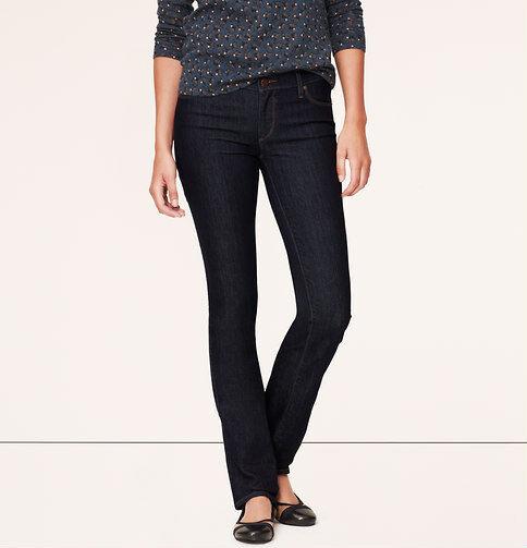 Ann Taylor LOFT Modern Straight Leg Jeans Pants in Dark Rinse Wash Size 25 NWT