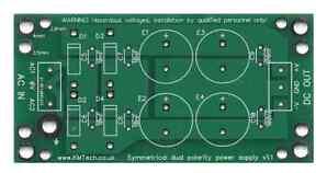 Zwei Symmetrische Stromversorgung PCB Nur DIY Audio Amp