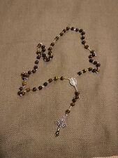 Men's Tiger Eye Rosary