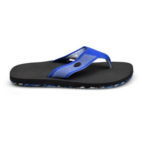 Animal® Marti Mens Upper Knit Snorkel Blue Flip Flops Sandals Brand New on Sale