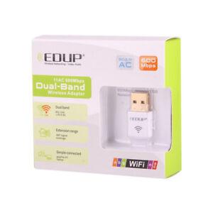 EDUP 11ac AC600M Wireless USB Wifi Adapter Dual Band 2.4G//5G for Laptop Desktop