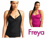 Freya In The Mix Halterneck Underwired Tankini Top 3821 Pink, Blue or Black NEW