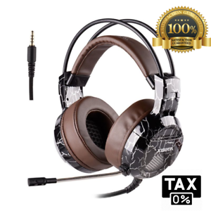 Details about Wired Gaming Stereo Headset 3 5mm With Volume Control Mic  Mute Switch