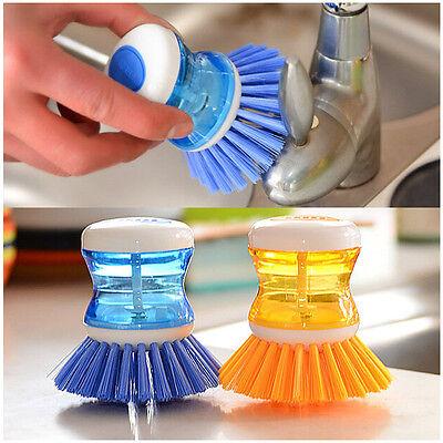 Kitchen Easy Dish Washing Cleaning Up Brush Brushes Scrubbing Liquid Detergent