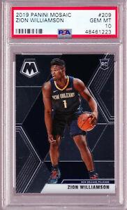Zion-Williamson-Pelicans-Rookie-2019-Panini-Mosaic-209-PSA-10-Gem-Mint