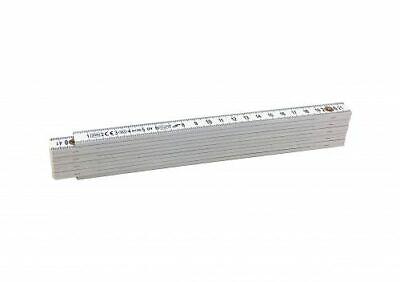 Doppio Metro In Abs 200 Cm Bianco Con 10 Stecche Pieghevoli 6501h-ey Buono Per Succhietto Antipiretico E Per La Gola