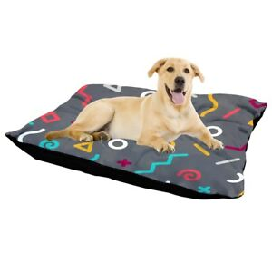 Canvas-Pet-Bed-Non-Slip-Zipper-GEO-Grey-Mattress-Dog-Cat-Mat-Cushion-Large