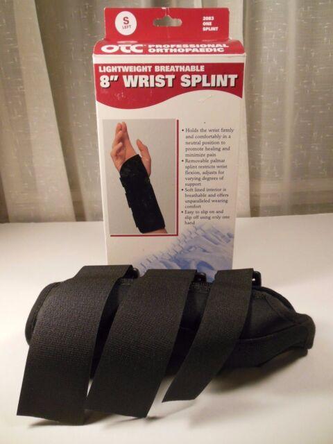 "Wrist Splint 8"" Lightweight Breathable OTC Orthopaedic LEFT * SMALL * NEW"