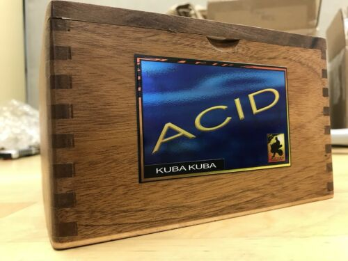 No Cigars Included Acid Blondie Large Empty Cigar Box