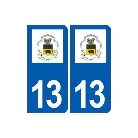 13 Noves logo ville autocollant plaque sticker arrondis