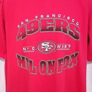 San Francisco 49ers Mens T Shirt Vintage 90s NFL On FOX Made In USA ... e22cfca87