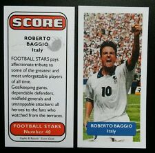 ITALY - JUVENTUS - ROBERTO BAGGIO Score UK football trade card