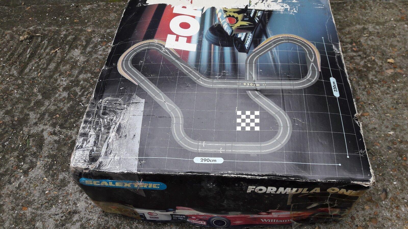 Pista de carreras de fórmula uno niños Scalextric Jordan Honda F1 V Williams
