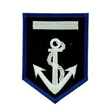 Patch ecusson brodé drapeau backpack ancre marine bâteau blason thermocollant
