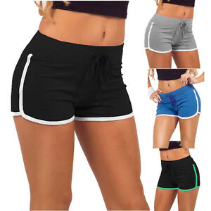 9a0c3b1ab13e Image is loading Summer-Womens-Sport-Shorts-Gym-Workout-Waistband-Skinny-