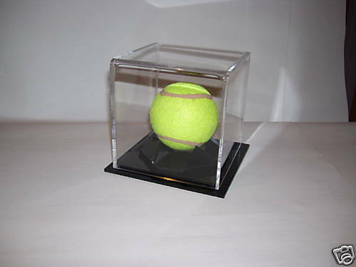 ACRYLIC PERSPEX TENNIS BALL DISPLAY CASE
