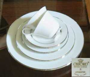 SALE-LOT-X2-SETS-Lenox-Oxford-Lexington-5-Piece-Place-Setting-MINT-USA