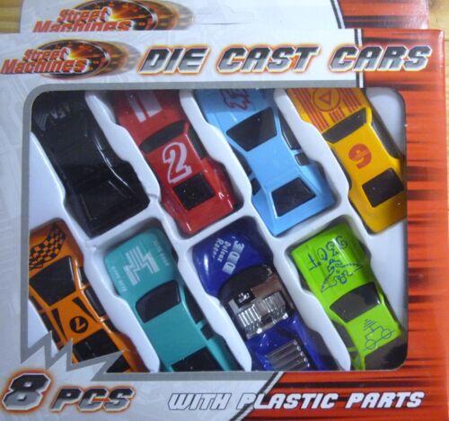 8 automobili Grande 4 Party Bag Filler STREET macchine Die Cast Auto Giocattolo Set