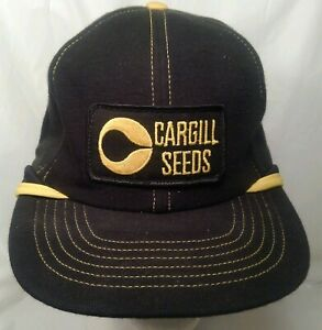 Vintage Trucker Farmer Flap Hat CARGILL SEEDS Swingster Made In USA Patch