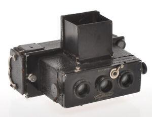 Voigtlander-Stereflexktoskop-Stereo-45x107-with-Heliar-62-4-5-c-1920-sold-as-is