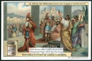 The-Ostracism-Of-Cimon-Greek-History-c1915-Trade-Ad-Card