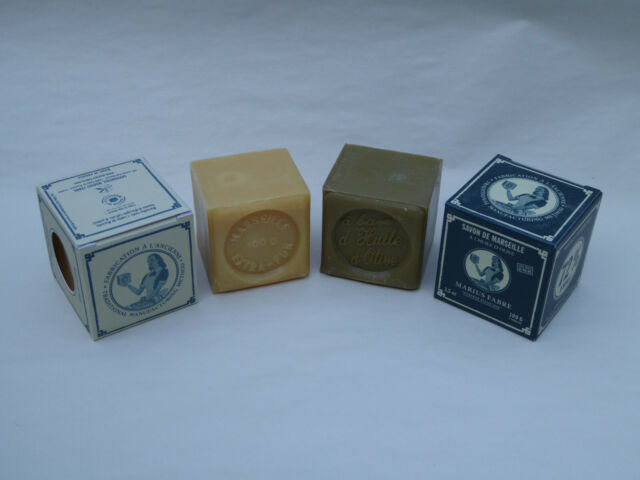 French Marius Fabre Marseille Soap - 100g Cube Soap - Olive