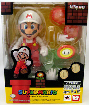 NEW Super Mario Brothers 5 inch Classic Figure Fire Mario NWT