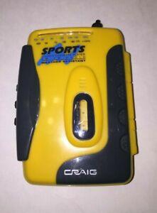 Vintage Craig Sports Stereo Cassette Player AM FM Radio Weather Resistant Works