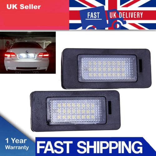 2xLED License Number Plate Light Lamp E39 E60 E61 E90 E92 For BMW 3Series Canbus