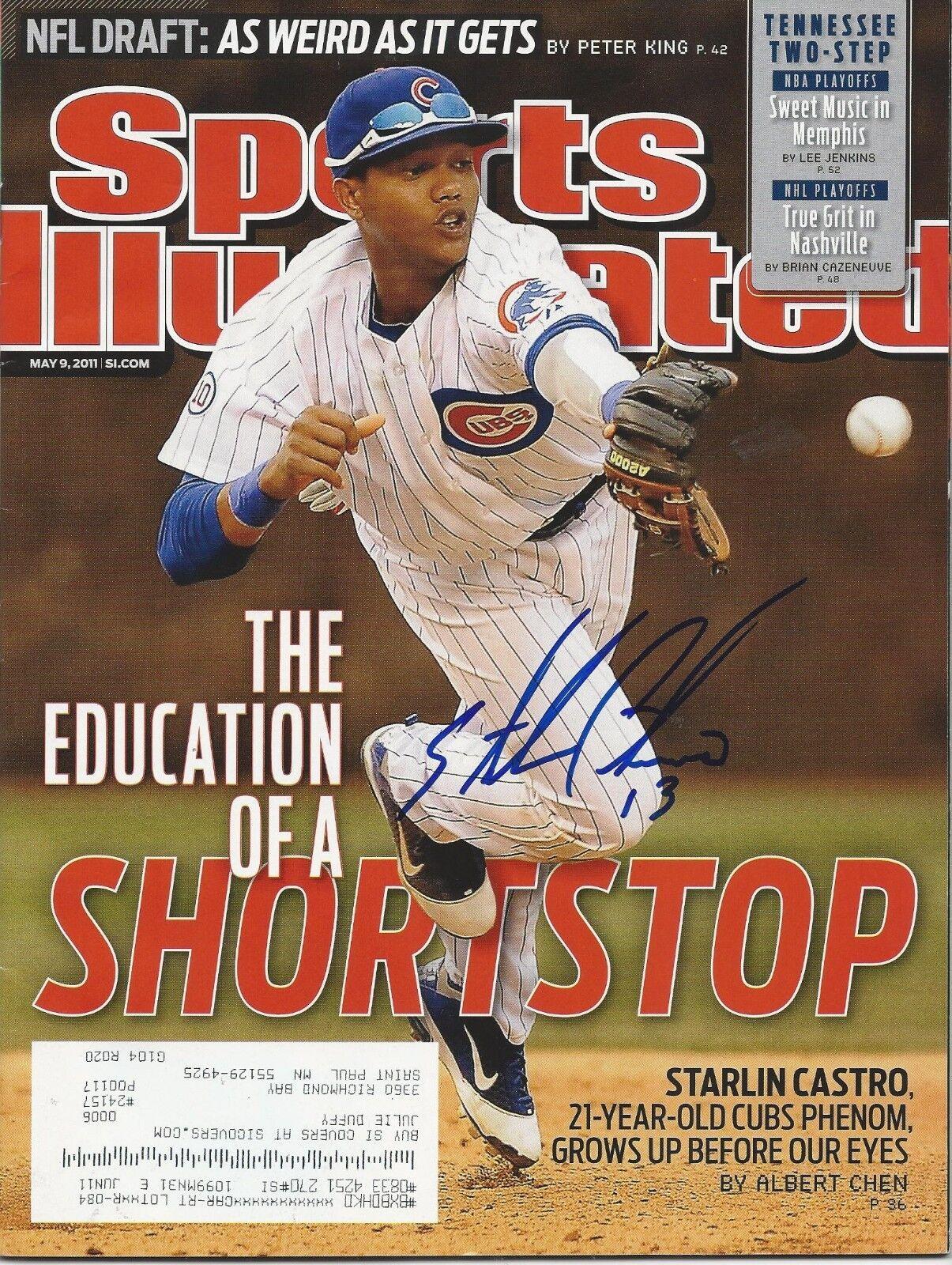 GFA Sports Illustrated Starlin Castro. Signé si Revue AD1 Coa