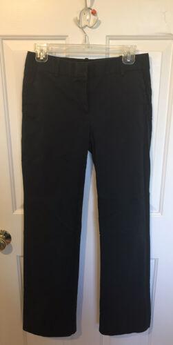J. Crew Cafe Trouser Navy Blue Women's Cotton Pant