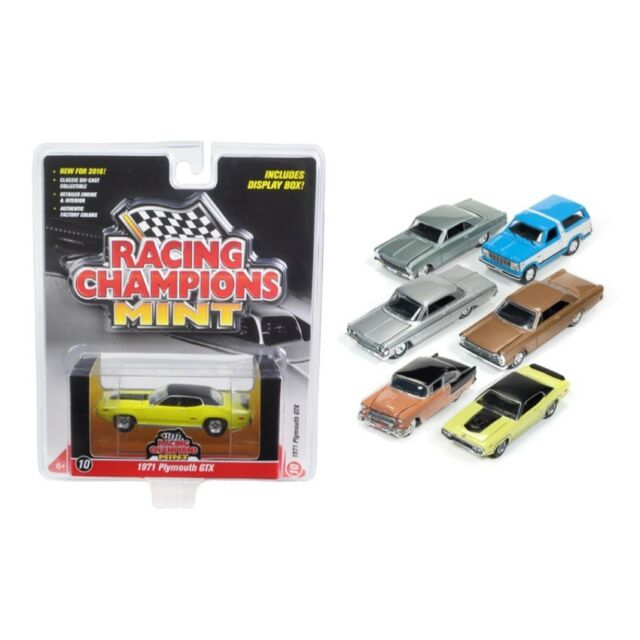 2018 MINT RELEASE 1 SET B OF 6 CARS 1//64 DIECAST BY RACING CHAMPIONS RC007 B