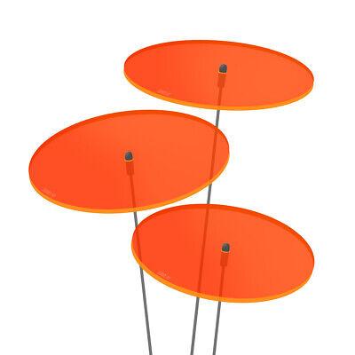 Devoto 3 Pezzi Sunplay Sole Scatenala ø10cm Suncatcher Spina Da Giardino Arancione Vetri-