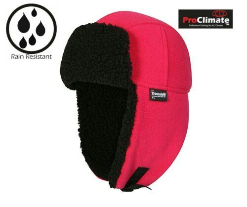 Mesdames Rose Pro Climate Eau//Coupe-vent Trappeur Thinsulate 40 G Chapeau Taille Unique